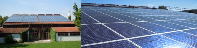 Solarinstallation Sporthalle Tübingen