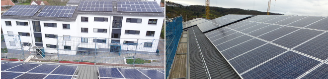 Solarinstallation in Rottenburg