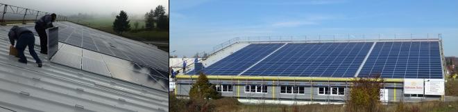 Gewerbehalle Sindelfingen Solarinstallation