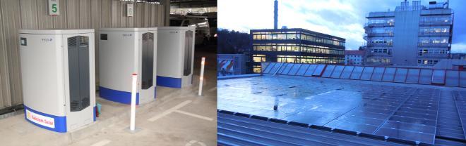 Solarinstallation Stadwerke Tübingen