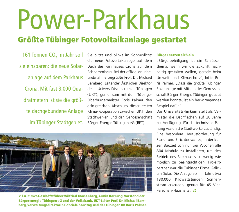 Solar Power Parkhaus