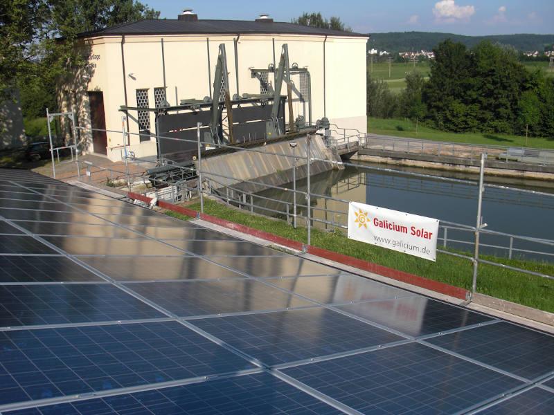 Solar Installation Schleuse